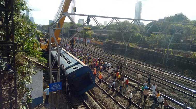 Western line hit as coach derails