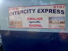 Bhopal - Gwalior InterCity Express