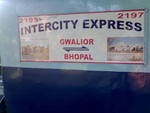 Gwalior - Bhopal InterCity Express