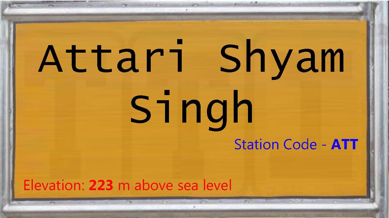 Attari Shyam Singh