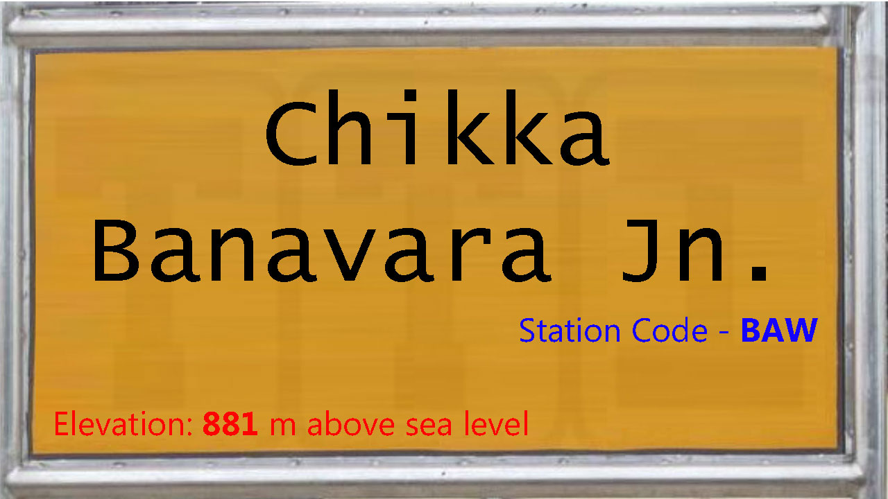 Chikka Banavara Junction