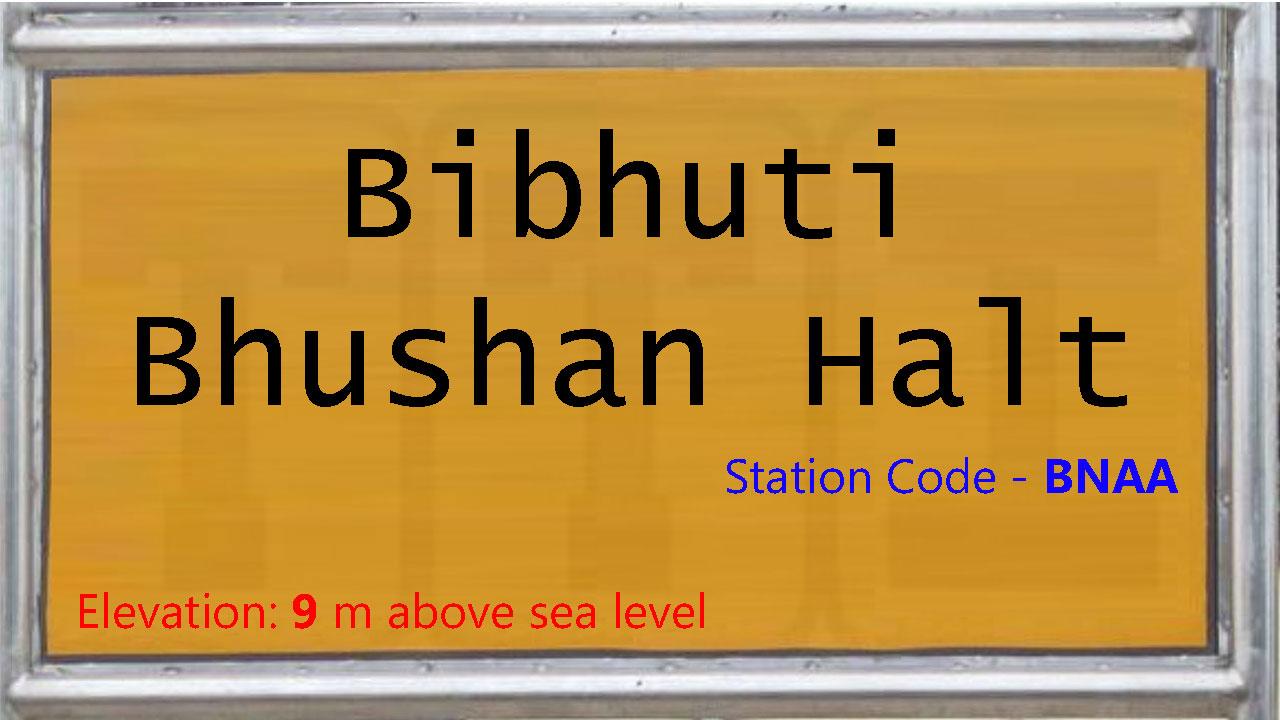 Bibhuti Bhushan Halt