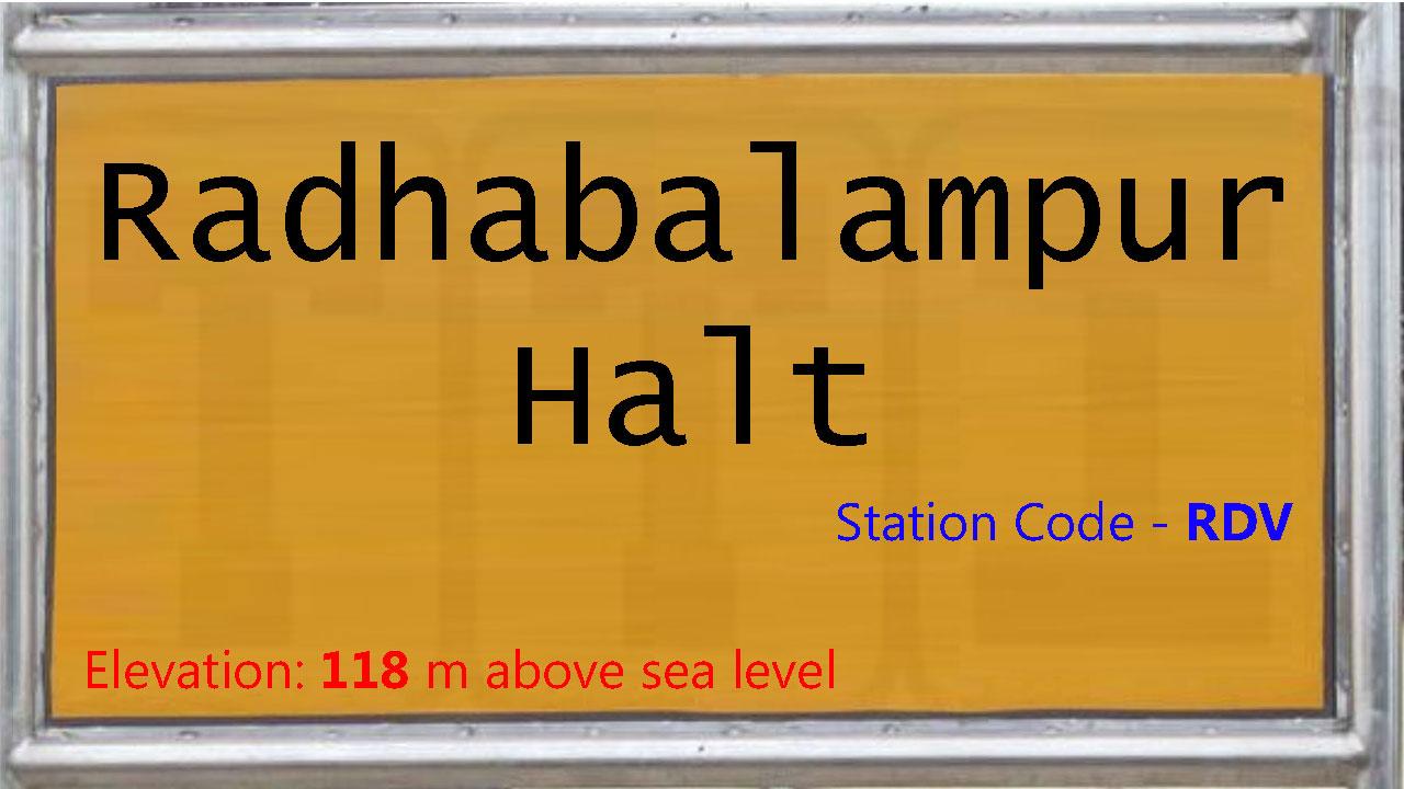 Radhabalampur Halt
