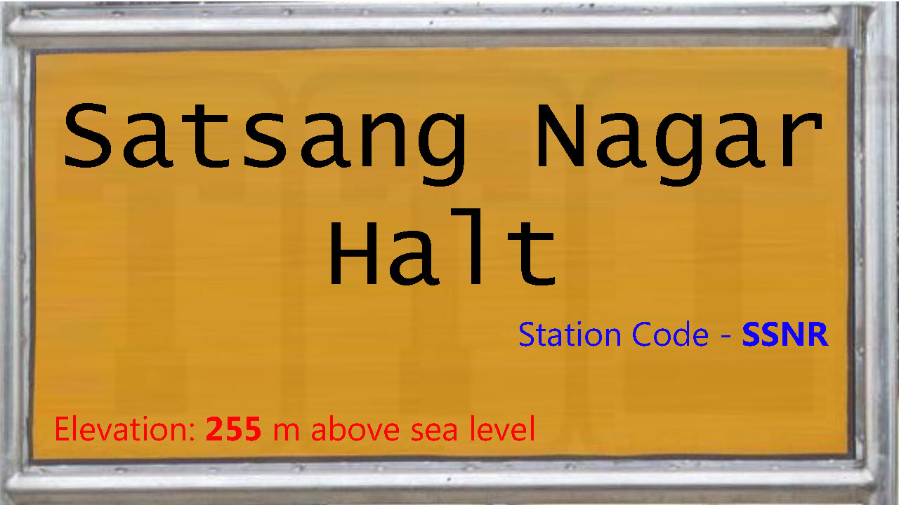 Satsang Nagar Halt